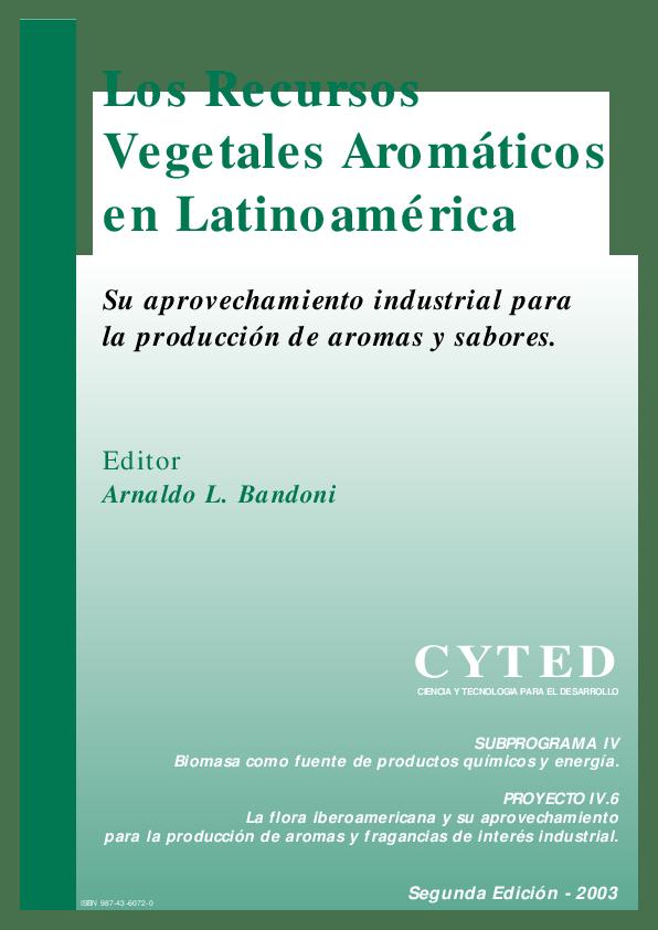 Los Recursos Vegetales Aromáticos en Latinoamérica