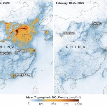 Imágenes de la NASA muestran cómo desaparece la contaminación de China por el Coronavirus